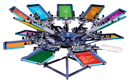 Wahooscreengraphix Screen printing press
